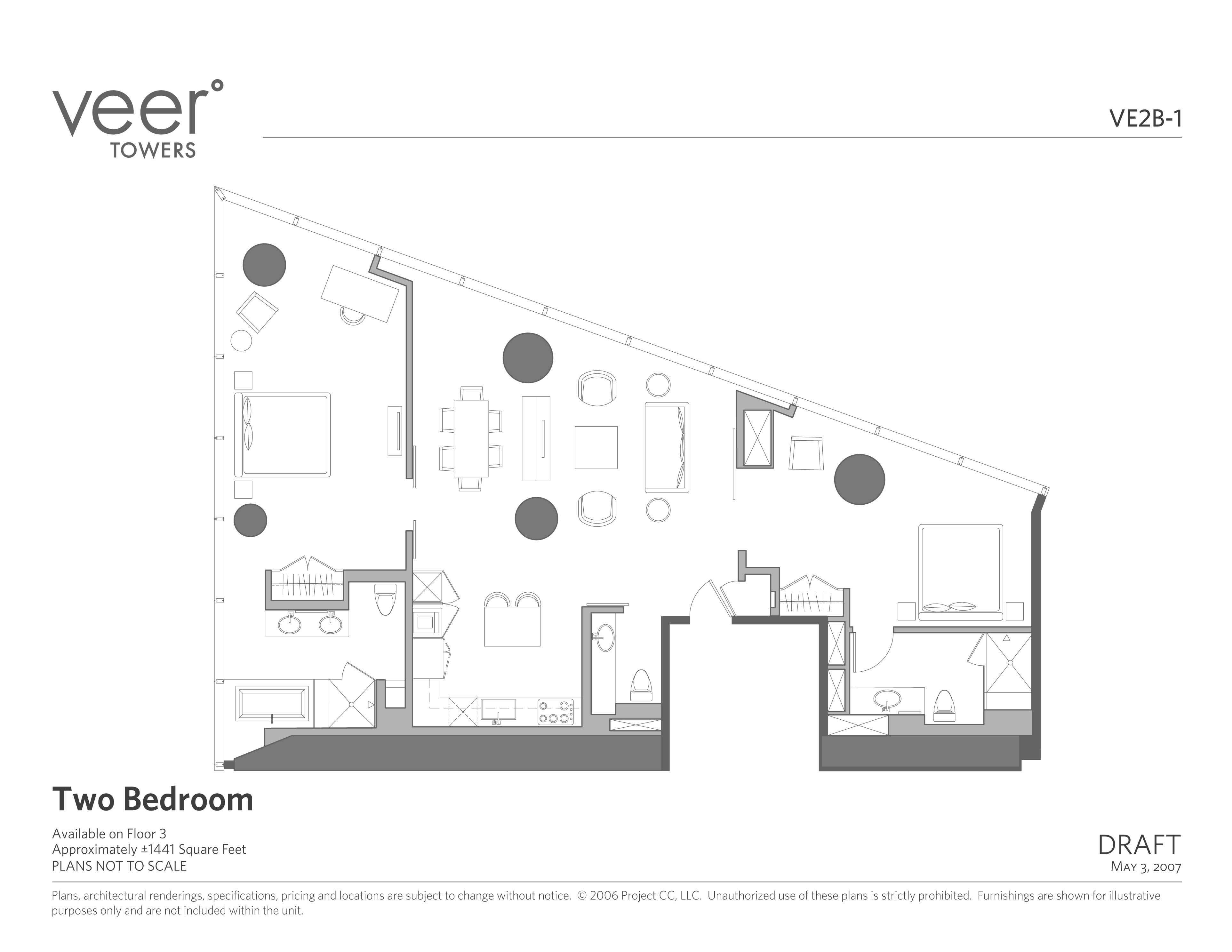 Floor Plans Of Veer Towers At Citycenter Las Vegas Las