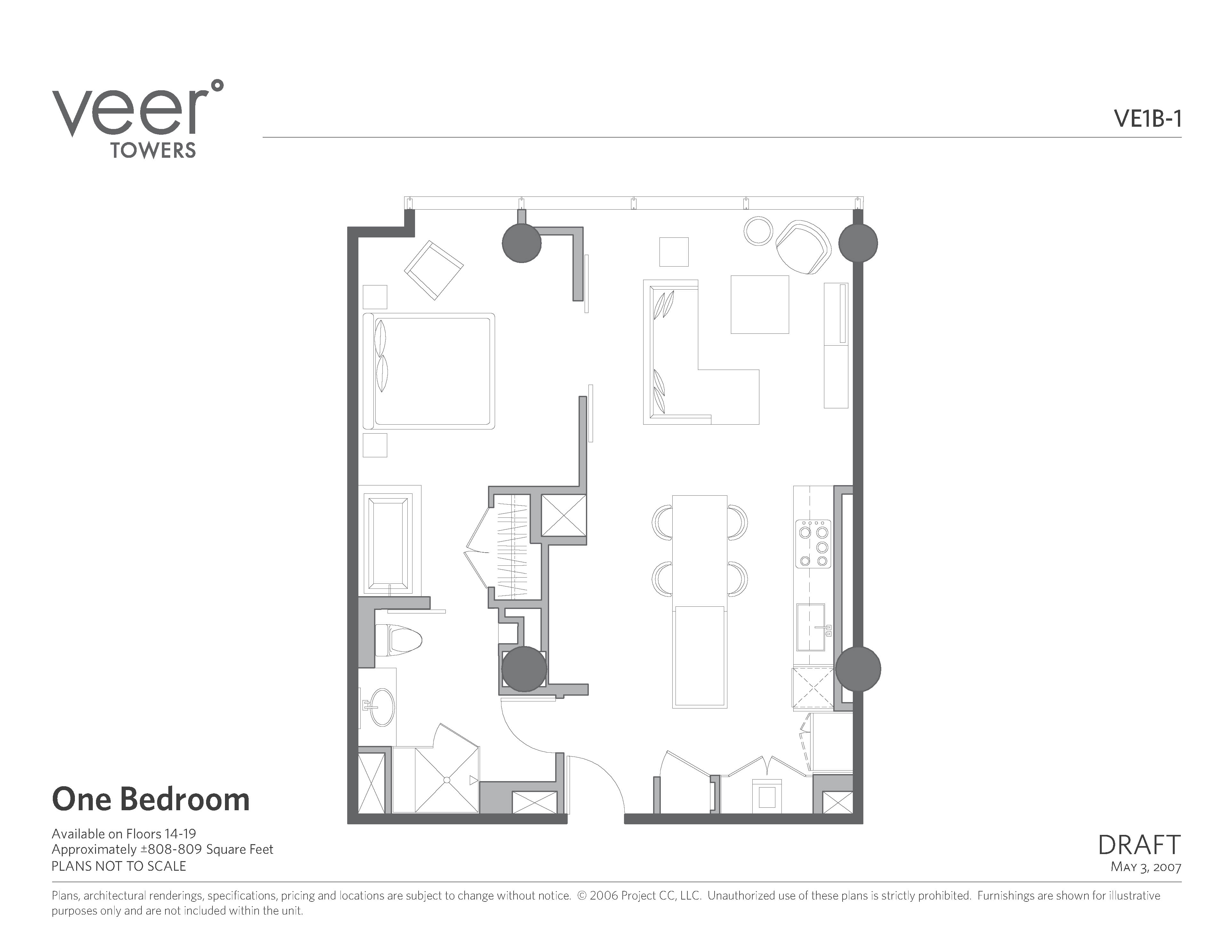 Veer 1bd Floor Plan Copy Las Vegas Condos For Sale