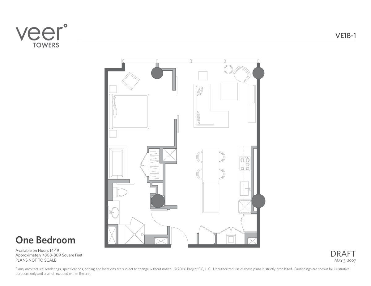 Veer 1bd Floor Plan