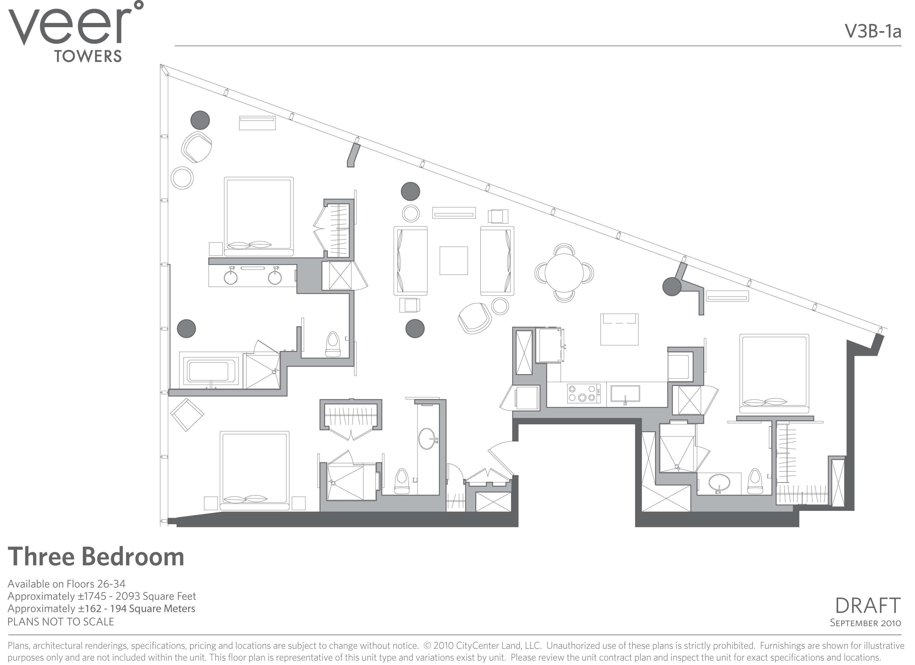 Veer towers floor plans las vegas for Las vegas home floor plans
