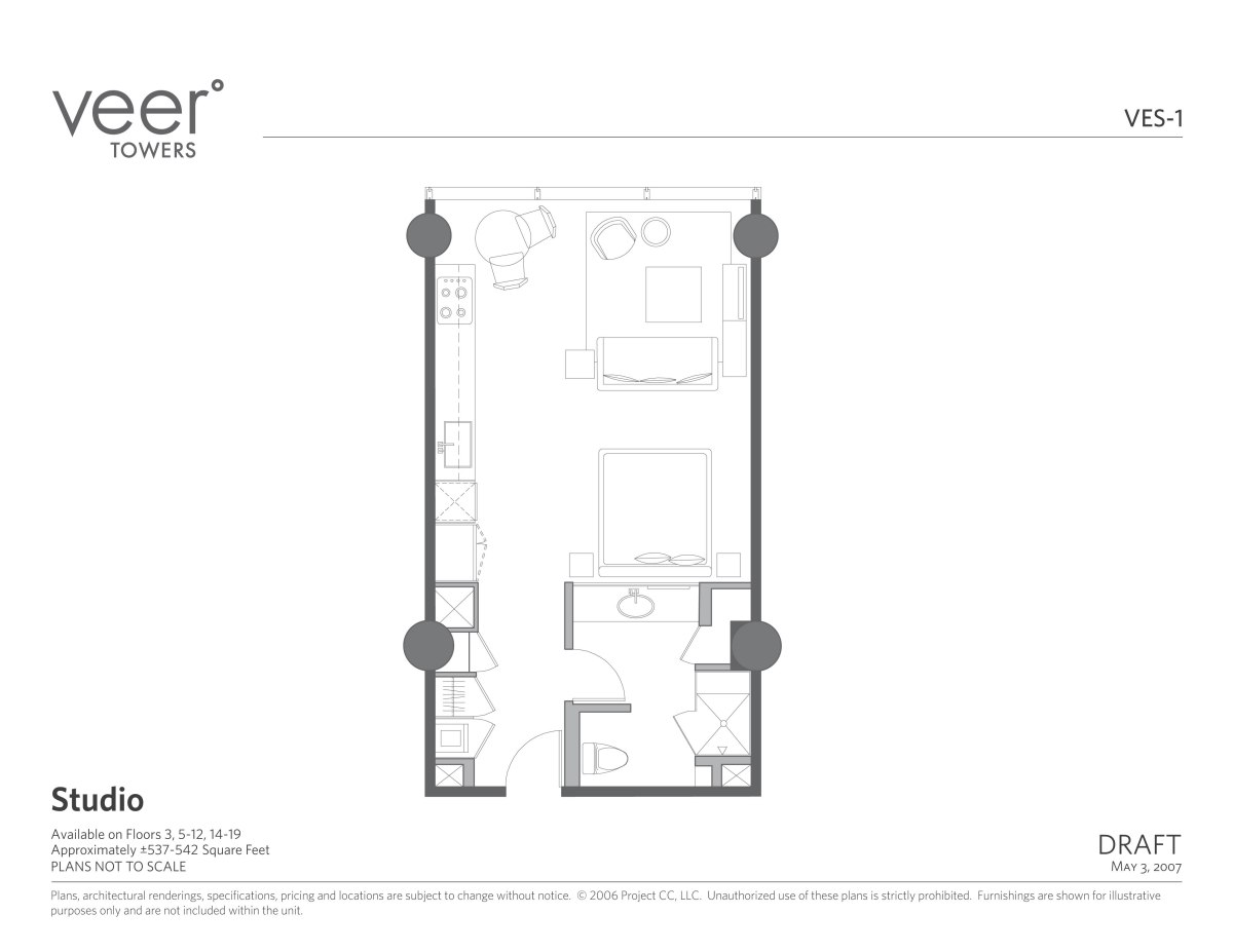 Veer Towers Studio Floor Plan